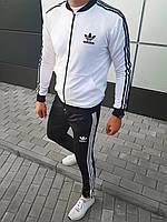Спортивный костюм мужской в стиле Adidas black-white высокого качества   осенний весенний