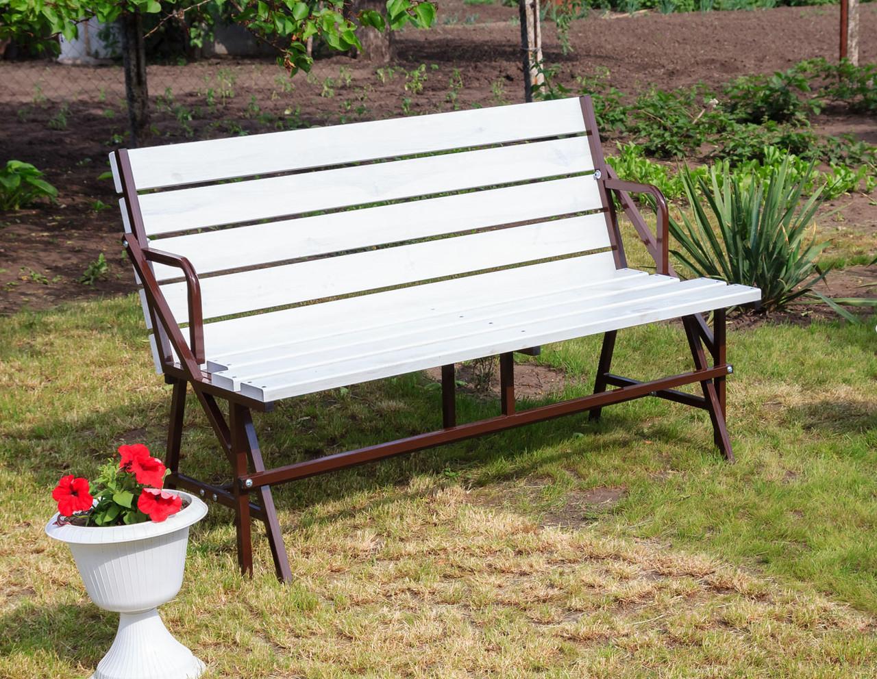 Набор садовой мебели стол-скамейки Трансформер Атлант 3 в 1 Nk Plast Шоколад-Белый