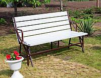 Набор садовой мебели стол-скамейки Трансформер Атлант 3 в 1 Nk Plast Шоколад-Белый, фото 1