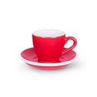 Чашка и блюдце под эспрессо Acme Red (70 мл)