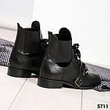 Женские кожаные демисезонные ботинки на низком ходу, фото 3