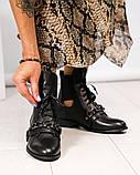 Женские кожаные демисезонные ботинки на низком ходу, фото 6