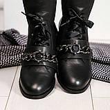 Женские кожаные демисезонные ботинки на низком ходу, фото 4