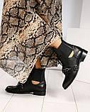 Женские кожаные демисезонные ботинки на низком ходу, фото 10