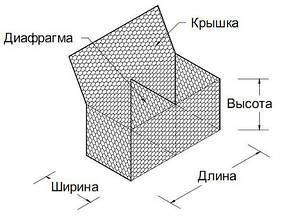 Габион коробчатый 2,7/3,4мм оцинкованный 2,0/1/0,5, фото 2