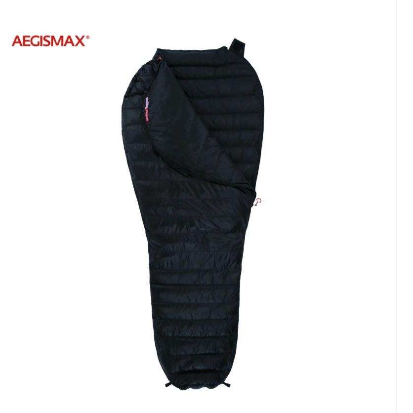 Пуховый спальный мешок AEGISMAX NANO +10°С +5°С. Размер M. Пуховий спальний мішок кокон nano.