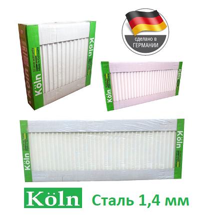 Стальной радиатор отопления 500 на 1100 Köln 22 тип боковое подключение