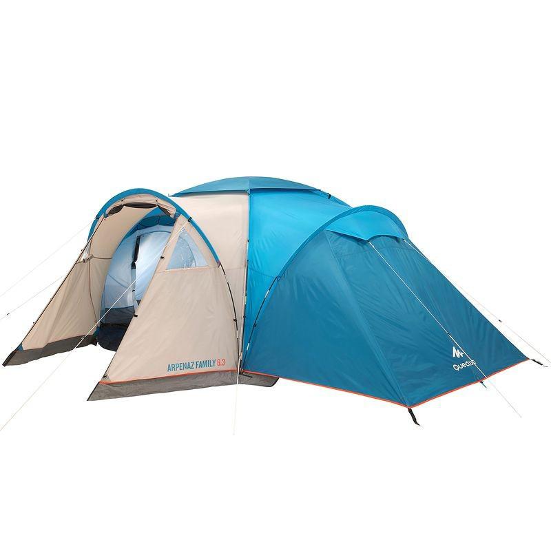 Палатка шестиместная Arpenaz Family 6,3 . Quechua. Для походов.