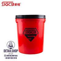 SGCB Відро для миття автомобілів з сепаратором, 20 л,червоне