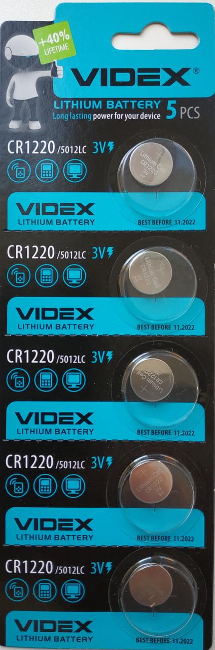 Батарейка литиевая Videx CR1220 5pcs BLISTER CARD