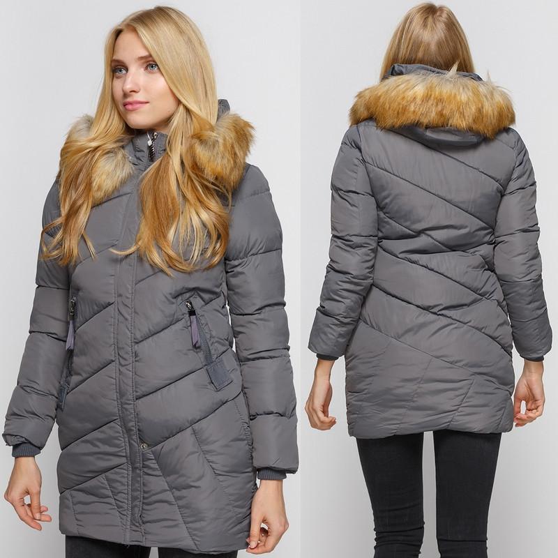 Зимняя куртка приталенного кроя AL-8472-75