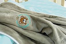 Постельное бельё в кроватку Корона (Мята) + пледик, фото 3