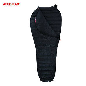 Пуховый спальный мешок AEGISMAX NANO. +10°C +5°C. Размер L. Пуховий спальний мішок кокон.