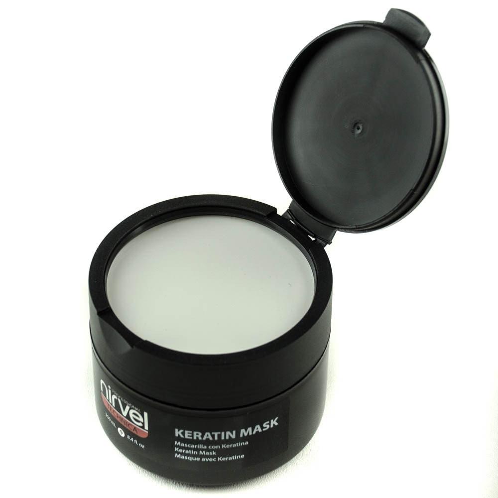 Восстанавливающая маска с гидролизированным кератином,миндальным маслом,протеинами Nirvel Mask №6  250 мл 8484