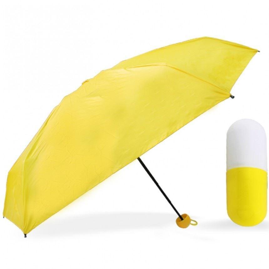 Мини-зонт карманный в капсуле Желтый