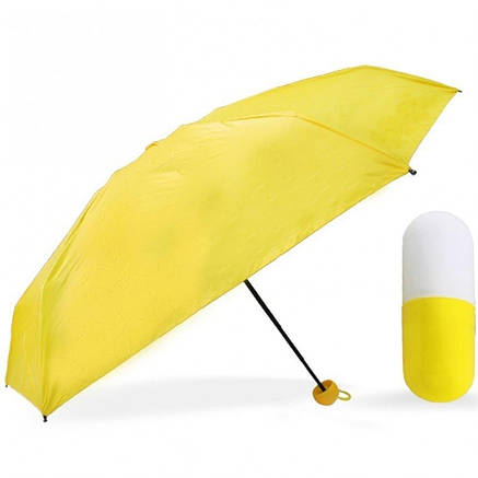 Мини-зонт карманный в капсуле Желтый, фото 2