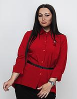Жіноча сорочка з вишивкою і поясом, з 48-64 розмір