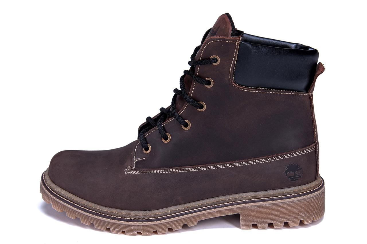 Мужские зимние кожаные ботинки Crazy Shoes Chocolate (реплика) р. 40  41 42 43 44 45