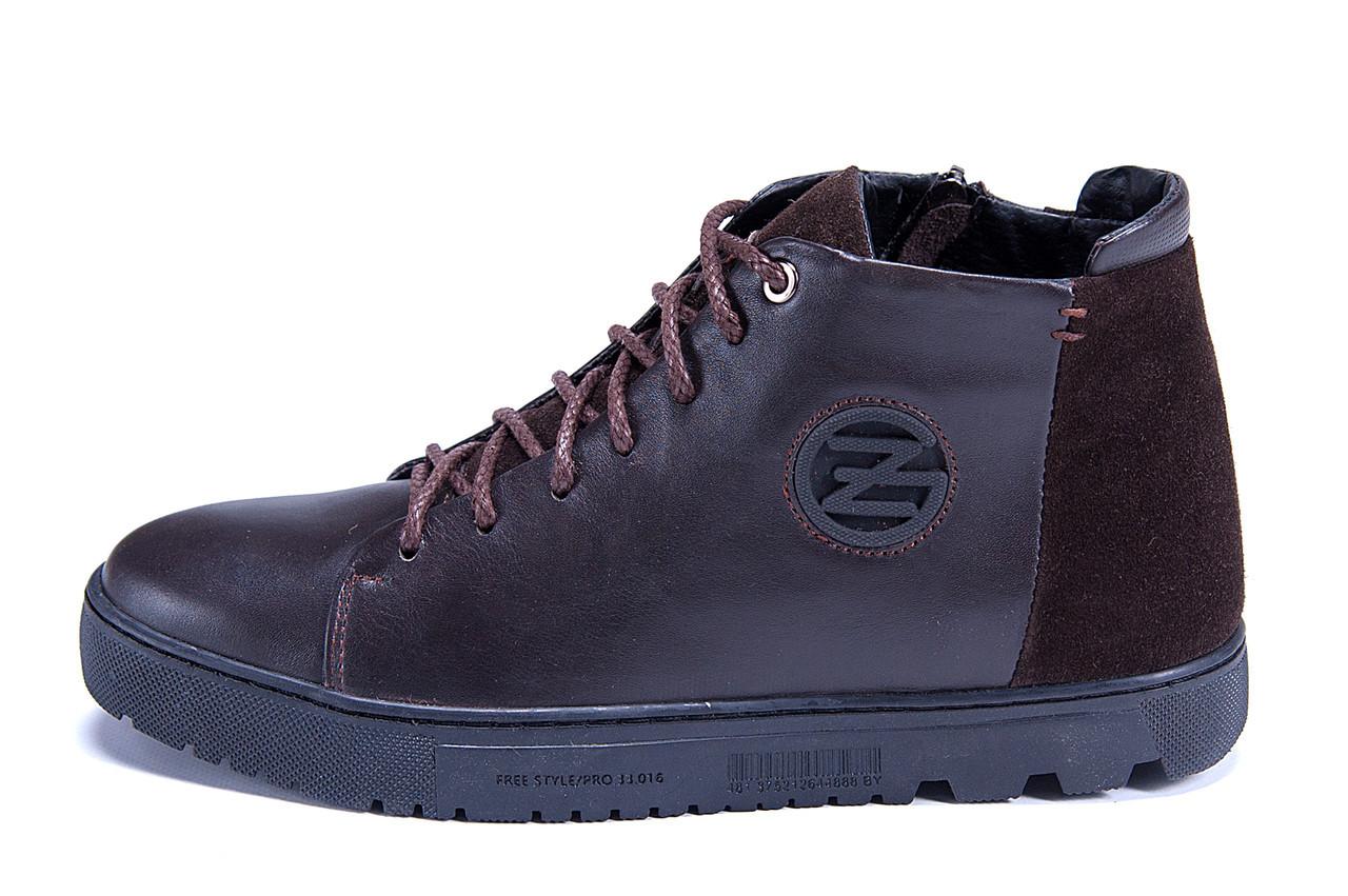 Мужские зимние кожаные ботинки ZG GO GO Man Brown р. 43 44 45