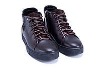 Мужские зимние кожаные ботинки ZG GO GO Man Brown р. 43 44 45, фото 3
