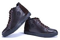 Мужские зимние кожаные ботинки ZG GO GO Man Brown р. 43 44 45, фото 4
