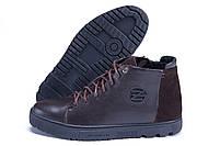 Мужские зимние кожаные ботинки ZG GO GO Man Brown р. 43 44 45, фото 5