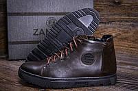 Мужские зимние кожаные ботинки ZG GO GO Man Brown р. 43 44 45, фото 7