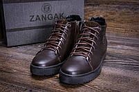 Мужские зимние кожаные ботинки ZG GO GO Man Brown р. 43 44 45, фото 8
