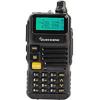 Рация QUANSHENG UV-R50 + гарнитура QUANSHENG QS-3 с кнопкой PTT, фото 1