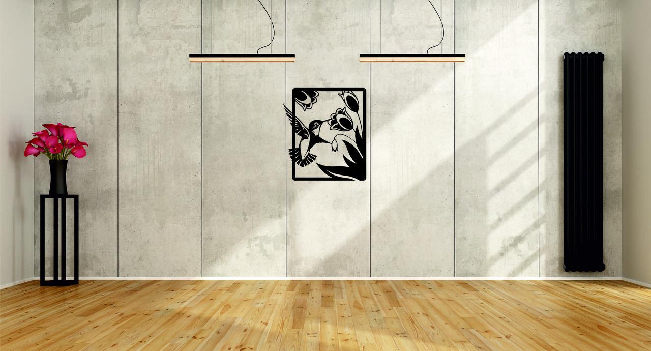 Деревянный декор на стену WHICH.BLACK - Colibri (75x67 см)