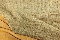 Ткань Ангора софт трикотажная,фактурная в рубчик,цвет светлая горчица , пог. м. №203