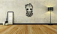 Деревянный декор на стену WHICH.BLACK - Groot (75x44 см)