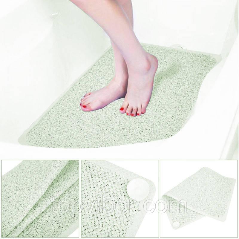 🔝 Противоскользящий коврик для ванной комнаты AquaRug, антискользящий ковер на присосках в ванную | 🎁%🚚