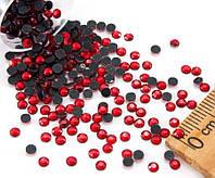 (10грамм ≈ 900-1000шт) Стразы SS10 стеклянные (2,7-2,9мм) термоклеевые Цвет - Красный