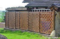 Деревянный забор с решетки для дачи LNK