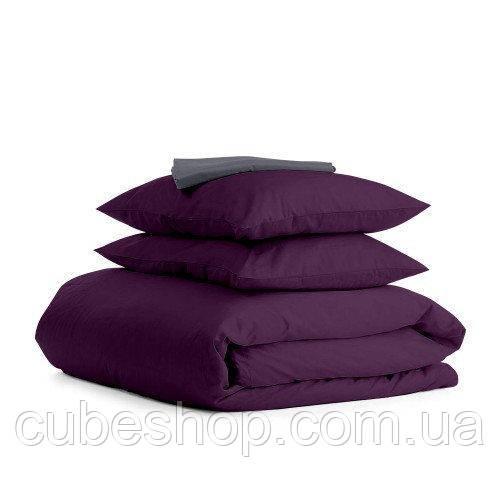 Комплект полуторного постельного белья VIOLET GREY-S (хлопок, сатин)