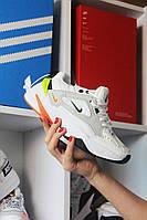 Женские кроссовки Nike M2K Tekno White Yellow Orange