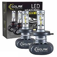 Светодиодные лампы H4 SOLAR 12/24V 6000K 4000Lm 50W Seoul CSP (8104)