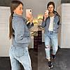 Куртка-Бомбер, на подкладке . Размер: s(42-44), m(44-46) . Цвет: светло серый, песочный, джинс (150), фото 5