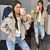 Куртка-Бомбер, на подкладке . Размер: s(42-44), m(44-46) . Цвет: светло серый, песочный, джинс (150), фото 6