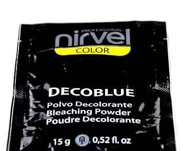 Блондирующий порошок пудра для обесцвечивания волос Нирвел Nirvel ArtX blue  500 гр 8172