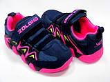 Детские замшевые кроссовки для девочки тм ZOLONG, размер , синие., фото 4