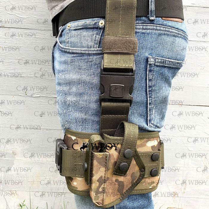 Кобура набедренная с платформой для пистолета ПМ ЛЕВША,  мультикам