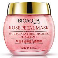 Ночная смягчающая маска для лица с лепестками роз Bioaqua Rose Petal Mask (120г)