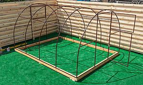 Арочная Теплица Овощная Nk Plast (300х400х200 см) Каркас Под Сотовый Поликарбонат и Пленку