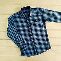 ✅Рубашка в школу Рубашка голубая в мелкую клеточку для мальчика Размеры 128-134 152-158, фото 1
