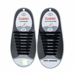 Силиконовые шнурки Coolnice В01 Черные (nri-832)
