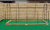 Арочная Теплица Лидер Nk Plast (300х1200х200 см) Каркас Под Сотовый Поликарбонат и Пленку, фото 1