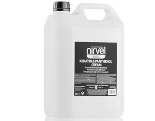 Кондиционер с кератином и пантенолом для поврежденных волос Nirvel keratin panthenol cream 5000 мл 6616