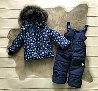 Зимний комбинезон двойка Снежинка (размер 98-104 см)